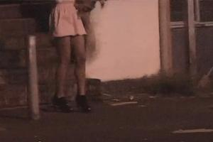 An underage prostitute working in Auckland's CBD. Photo / Supplied