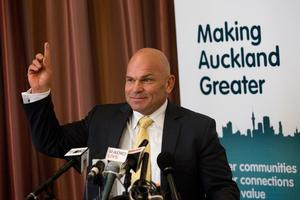 Minister Rodney Hide says a single Auckland council will be empowered to get on with the job. Photo / Richard Robinson