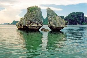 Beautiful Halong Bay in Vietnam - but beware the 'eco-cruises' on which crews toss rubbish into the water. Photo / Getty Images