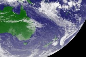The high-pressure system is as big as Australia and is expected to keep us dry from tomorrow until Friday. Photo / Supplied