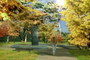 An artist's impression of the planned Korean garden in Takapuna. Photo / Supplied