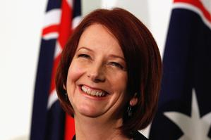 Australian Prime Minister Julia Gillard was positively glowing at her first press conference. Photo / Getty Images