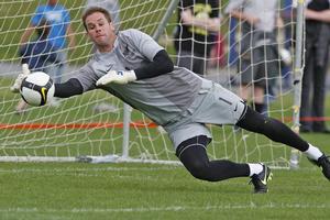 All Whites goalkeeper Mark Paston. Photo / Mark Mitchell