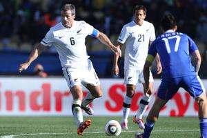 All Whites captain Ryan Nelsen in action during the 1-1 draw against Slovakia. Photo / Brett Phibbs