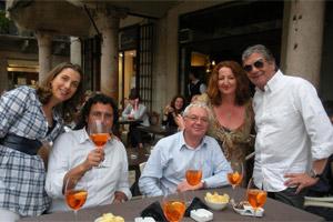 Sabato's Phil and Jacqui Dixon (centre and centre right). Photo / Supplied