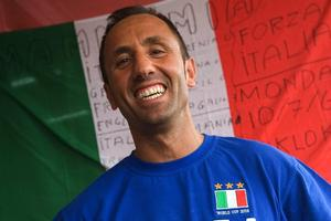 Gina's owner Alessandro Fantoni before Italy's victory in the 2006 World Cup final. Photo / Paul Estcourt