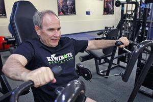 Fitness is a priority since Brown's heart attack two years ago. Photo / Sarah Ivey