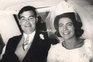 Harvey and Jeanette Crewe on their wedding day in 1966. They were murdered in June 1970. Photo / Supplied