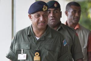 Commodore Frank Bainimarama. Photo / Greg Bowker
