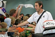 Ivan Vicelich is the centre of attention from young fans. Photo / Getty Images