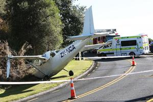 The Cessna ploughed into a bank. Photo / Northern Advocate
