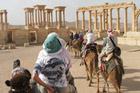 Heading into the ruins at Palmyra. Photo / Jill Worrall