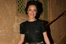 Keisha Castle-Hughes plays the flatmate of one of the godlike brothers in the TV comedy-drama hitting the screens sometime next year. Photo / Rob Trathen