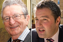 Brian Edwards (L) and Duncan Garner have engaged in an online war of words. Photos / Herald on Sunday, Mark Mitchell