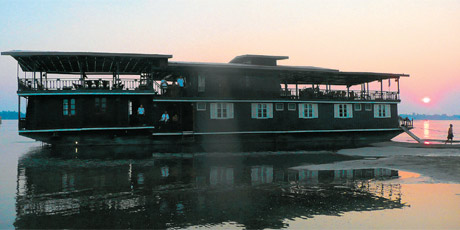 Cruising on the Mekong in the Si Phan Don (Four thousand Island) region. Photo / Brett and Carol Atkinson