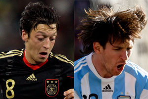 Is Mesut Ozil  the new Lionel Messi? Photos / AP