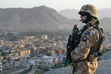 A New Zealand soldier on patrol in Kabul. A request for extra troops was turned down. Photo / Patrick Gower