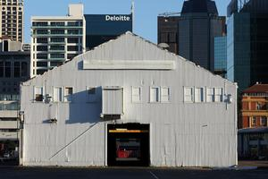 The Queen's Wharf cargo sheds were designed purely for functional reasons with no regard to visual appeal. Photo / Dean Purcell