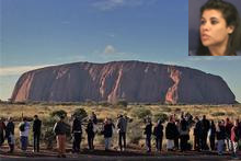 Uluru, an Aussie icon in the middle of the Outback [inset: Alizee Sery]. Photo / Brett Phibbs