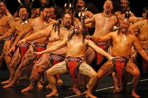 The Nga Tumanako performers go through their paces. Photo / Richard Robinson