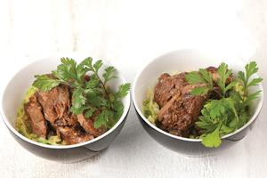 Robyn Martin's slow-cooked Chinese chops. Photo / Supplied