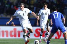 All Whites captain Ryan Nelsen. Photo / Brett Phibbs