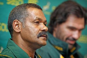 Peter de Villiers has called for a massive improvement from the Boks this Saturday. Photo / Natalie Slade