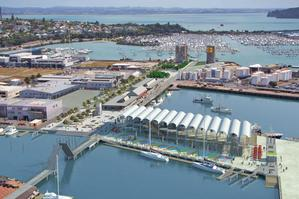 The Viaduct Events Centre, under construction on the Auckland waterfront, is being put forward as an alternative 'party central'. Photo / Supplied