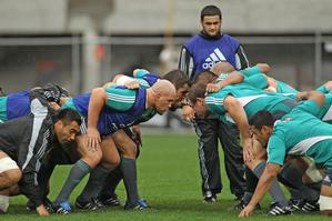 The All Blacks training on Tuesday. Photo / Getty Images