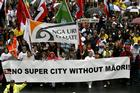 Was the Maori march up Queen St just the beginning? Photo / Steven McNicholl