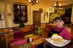The pastel tres leches (three milk cake) is a standout dessert at Ahsi-Itzcalli. Photo / Babiche Martens