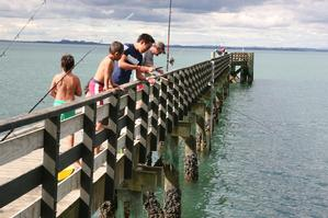 Cornwallis Wharf deserved its makeover and remains a popular fishing spot. Photo / Paul Thomas