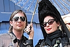 Johnston with French fashion blogger Diane Pernet. Photo / Supplied