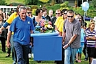 Crowds gather on the Mataatua Reserve in Whakatane to say goodbye to Moko the dolphin . Photo / NZPA, Whakatane Beacon