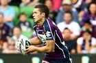 Since making his debut with the Storms this year, Matt Duffie has scored seven tries in 10 matches and averaged an impressive 105m a match. Photo / Getty Images