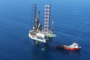Kupe gas field rig off the Taranaki coast. Photo / Supplied