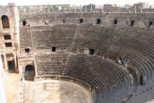 The fantastically preserved Bosra theatre in Syria. Photo / Jill Worrall