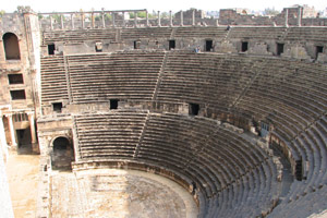 The fantastically preserved Bosra theatre in Syria. Photo / Jill Worrall