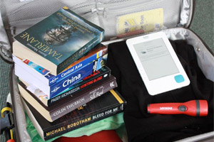 There's an obvious advantage to packing an eBook: having plenty more room in the suitcase. Photo / Jim Eagles