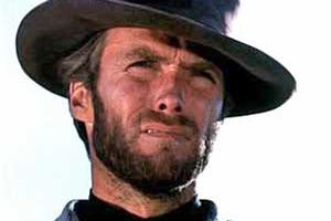 Clint Eastwood as the iconic 'Man with no name' in the early days of the spaghetti western.