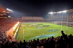 Rugby officials are confident Eden Park's lights will exceed the IRB's stringent requirements in time for next year's World Cup. Photo / Getty Images