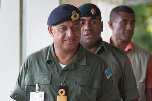 Fijian president Commodore Frank Bainimarama. Photo / Greg Bowker