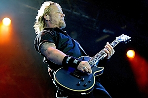 James Hetfield, lead singer and guitarist of Metallica, at the Big Day Out in 2004. Photo / NZ Herald