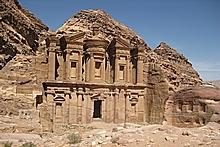 The Monastery at Petra. Photo / Jill Worrall