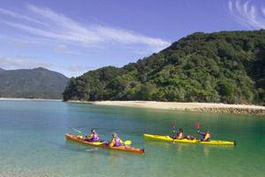 Kayaking the Abel Tasman. Photo / Latitude Nelson