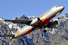 A jetstar A320 taking off from Queenstown. Photo / Supplied