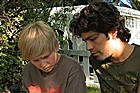 Austin Visschedyk (left) and Adrian Grenier in <i>Teenage Paparazzo</i>. Photo / Supplied