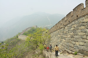 The Great Wall of China failed because invaders were able to bribe their way through. Today it is a goldmine for tourism. Photo / Jim Eagles