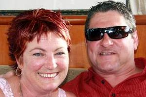 Claire Tynan and Darren Grace on board the Quest II just hours before Grace's death. Photo / Supplied