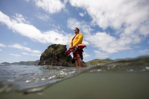 Christmas  is about the best time to visit Piha Beach. Photo / Herald on Sunday